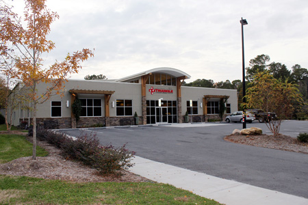 Veterinary hospital exterior